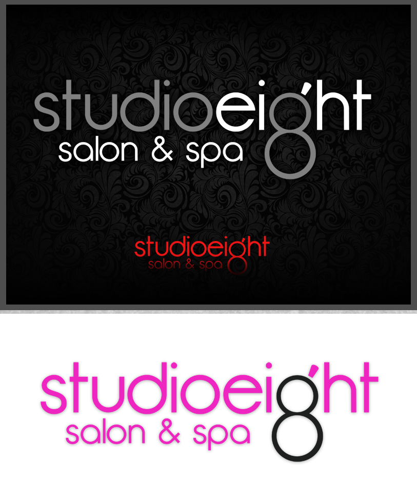 Logo Design by Private User - Entry No. 109 in the Logo Design Contest Captivating Logo Design for studio eight salon & spa.