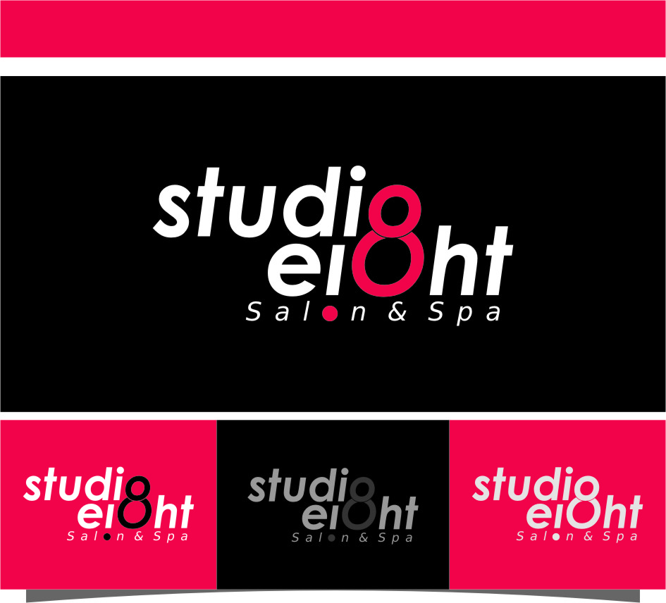 Logo Design by Ngepet_art - Entry No. 112 in the Logo Design Contest Captivating Logo Design for studio eight salon & spa.