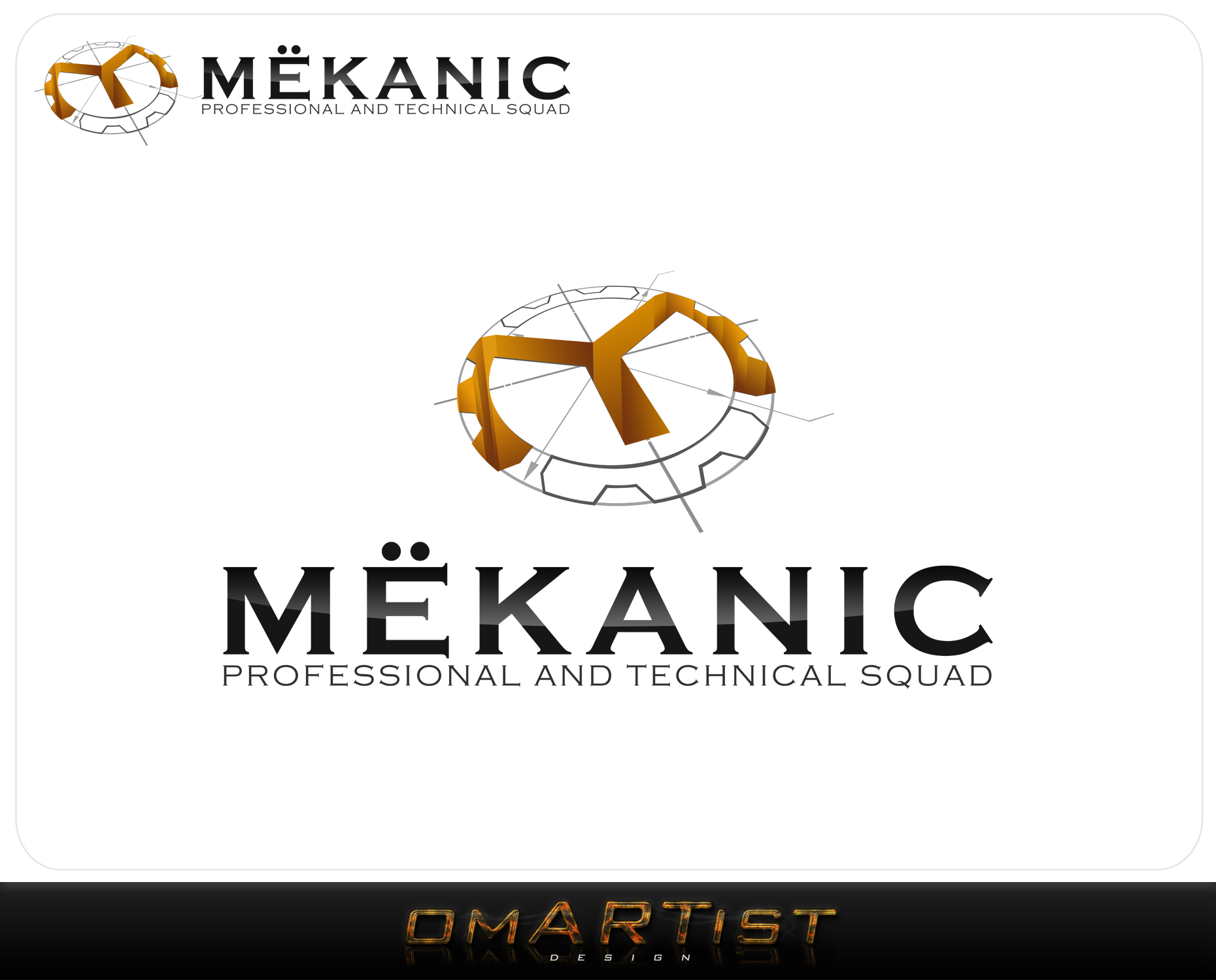 Logo Design by omARTist - Entry No. 372 in the Logo Design Contest Creative Logo Design for MËKANIC - Professional and technical squad.