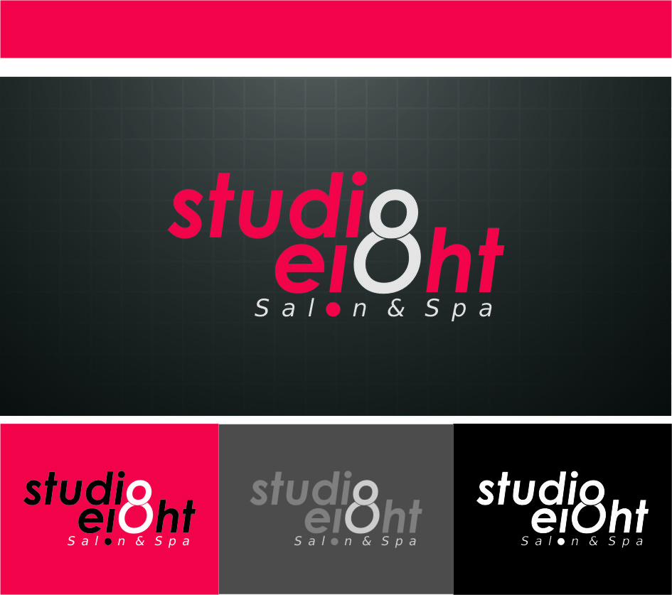 Logo Design by Ngepet_art - Entry No. 114 in the Logo Design Contest Captivating Logo Design for studio eight salon & spa.