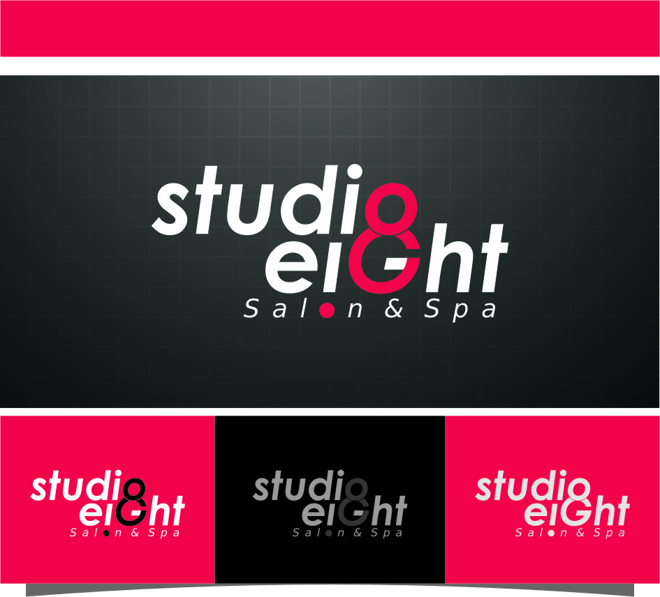 Logo Design by Ngepet_art - Entry No. 116 in the Logo Design Contest Captivating Logo Design for studio eight salon & spa.