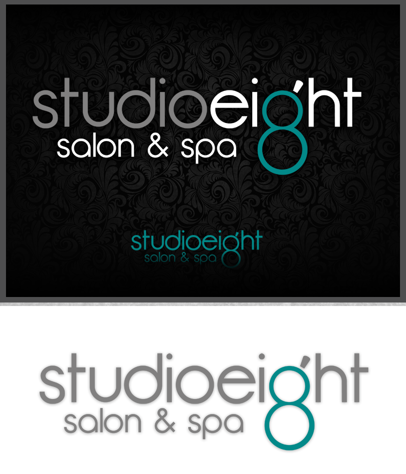Logo Design by Private User - Entry No. 119 in the Logo Design Contest Captivating Logo Design for studio eight salon & spa.