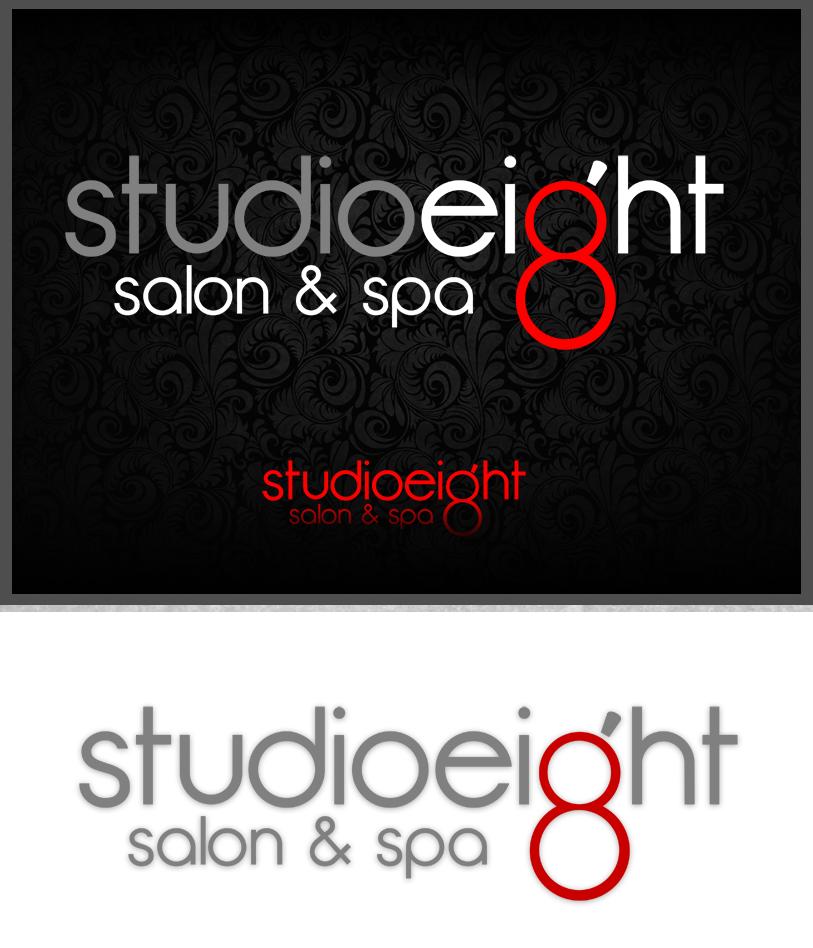 Logo Design by Private User - Entry No. 120 in the Logo Design Contest Captivating Logo Design for studio eight salon & spa.