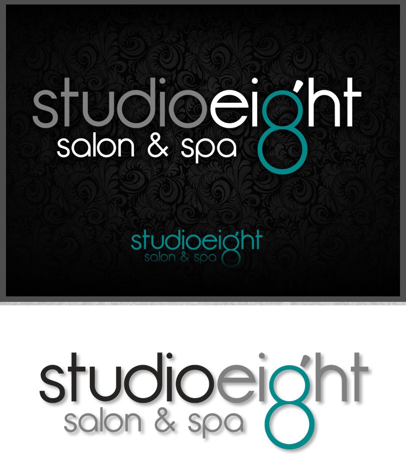 Logo Design by Private User - Entry No. 121 in the Logo Design Contest Captivating Logo Design for studio eight salon & spa.