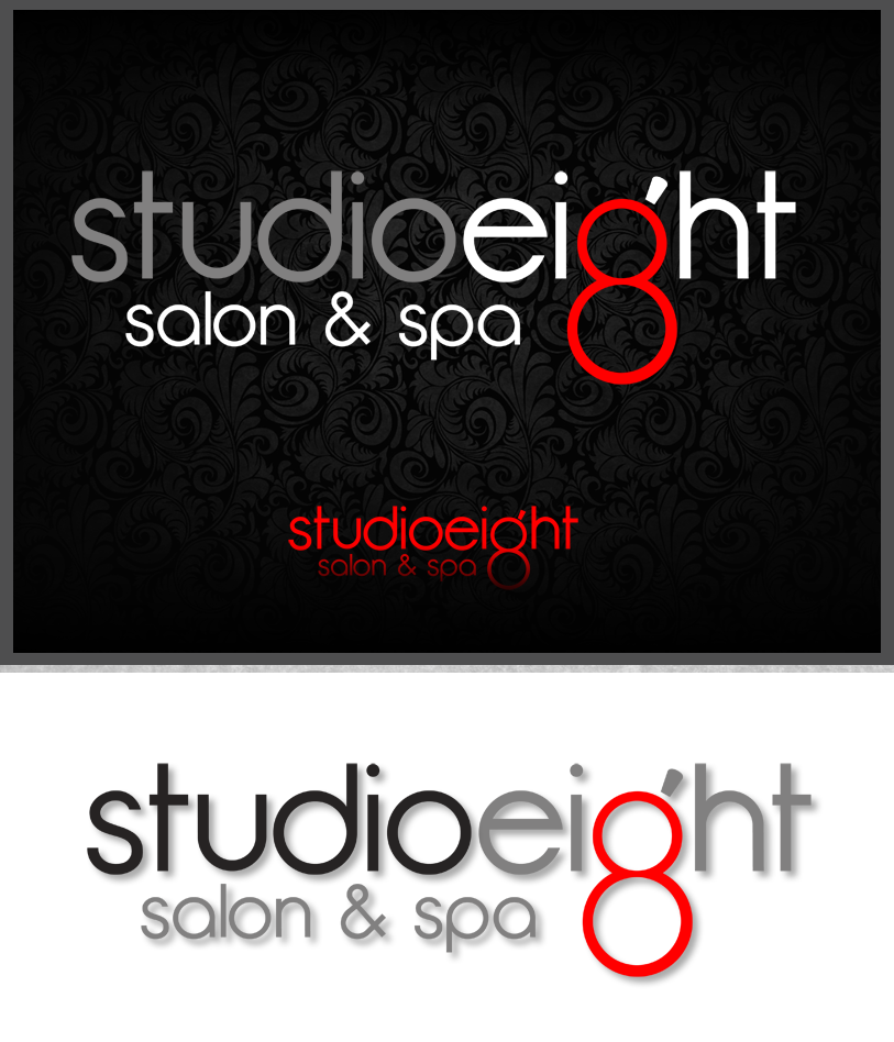 Logo Design by Private User - Entry No. 122 in the Logo Design Contest Captivating Logo Design for studio eight salon & spa.