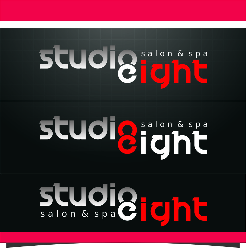 Logo Design by Ngepet_art - Entry No. 127 in the Logo Design Contest Captivating Logo Design for studio eight salon & spa.