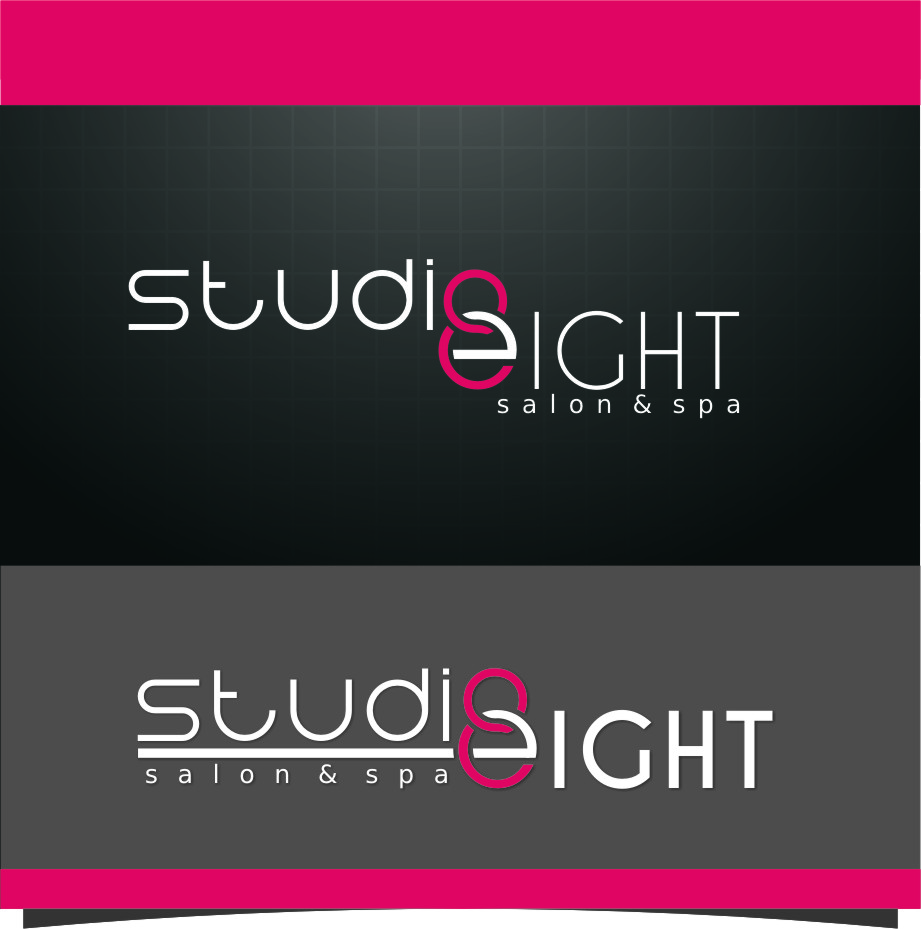 Logo Design by RoSyid Rono-Rene On Java - Entry No. 129 in the Logo Design Contest Captivating Logo Design for studio eight salon & spa.