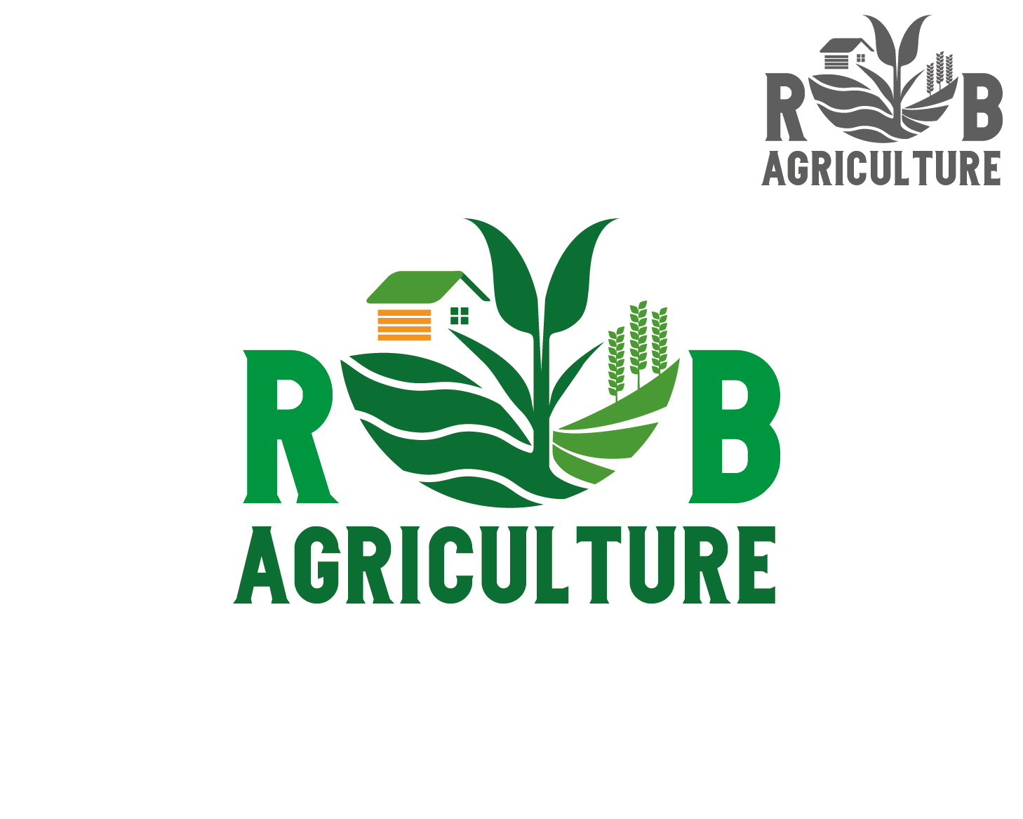 Logo Design by VENTSISLAV KOVACHEV - Entry No. 121 in the Logo Design Contest Captivating Logo Design for R & B Agriculture.