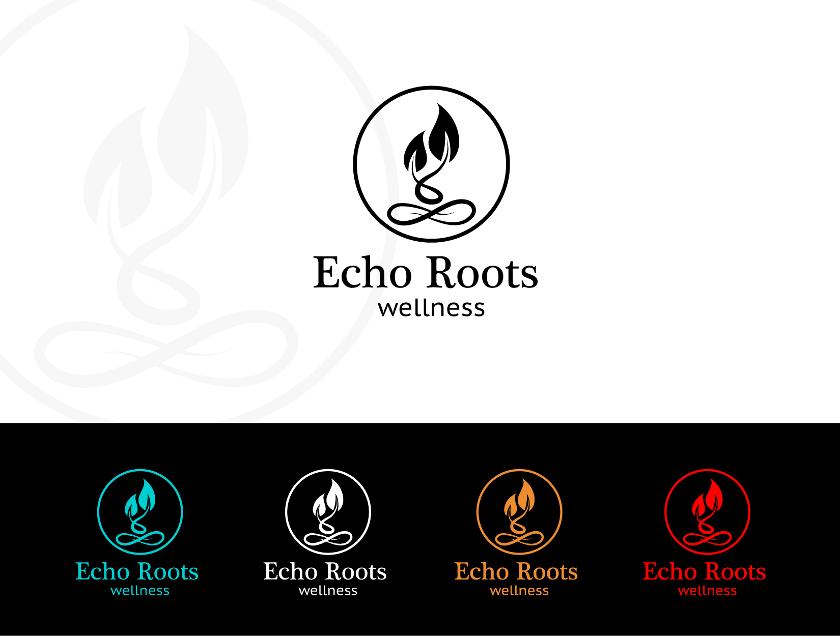 Logo Design by funkeekhan - Entry No. 71 in the Logo Design Contest Funky Logo Design for Echo Roots Wellness.