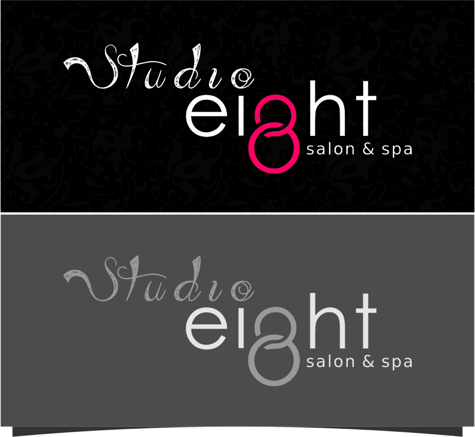 Logo Design by RoSyid Rono-Rene On Java - Entry No. 140 in the Logo Design Contest Captivating Logo Design for studio eight salon & spa.