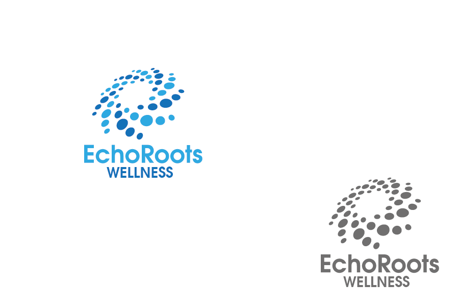 Logo Design by Private User - Entry No. 76 in the Logo Design Contest Funky Logo Design for Echo Roots Wellness.