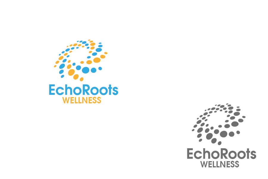 Logo Design by Private User - Entry No. 78 in the Logo Design Contest Funky Logo Design for Echo Roots Wellness.