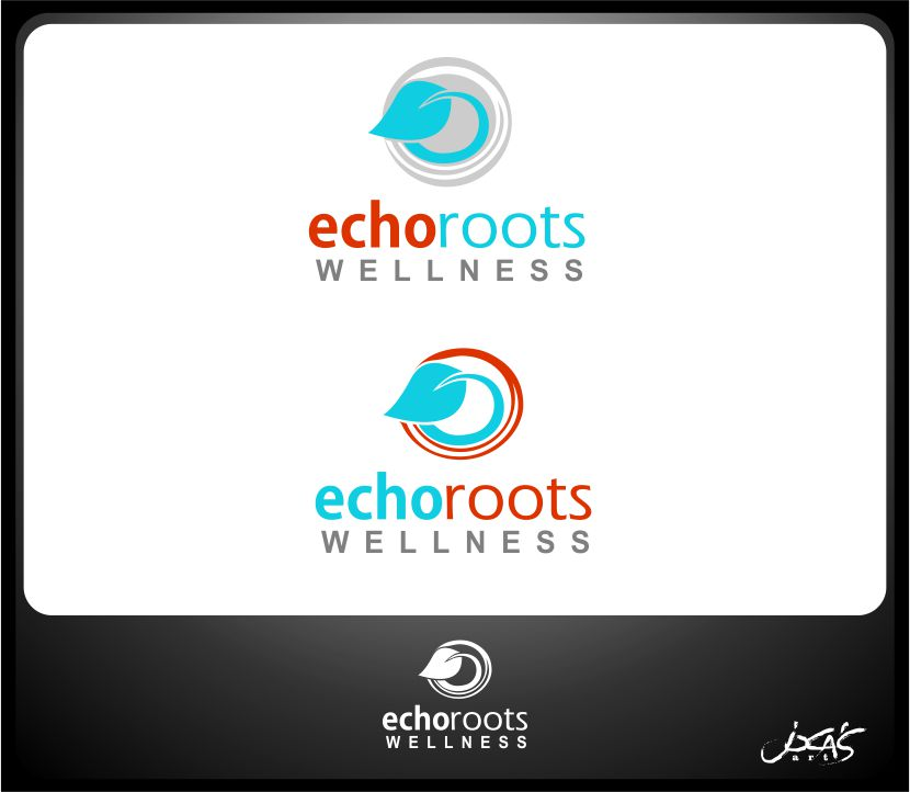 Logo Design by joca - Entry No. 79 in the Logo Design Contest Funky Logo Design for Echo Roots Wellness.