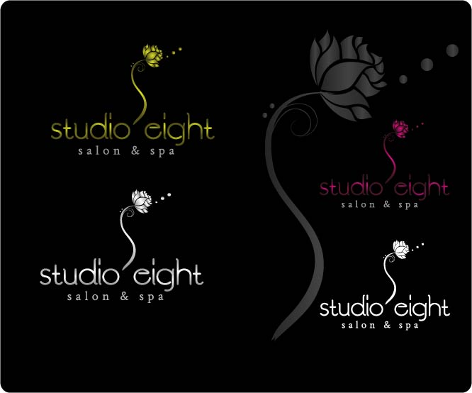Logo Design by Darina Dimitrova - Entry No. 152 in the Logo Design Contest Captivating Logo Design for studio eight salon & spa.