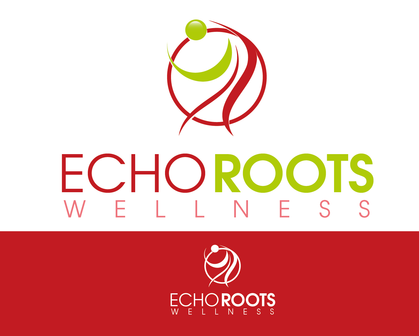 Logo Design by VENTSISLAV KOVACHEV - Entry No. 82 in the Logo Design Contest Funky Logo Design for Echo Roots Wellness.