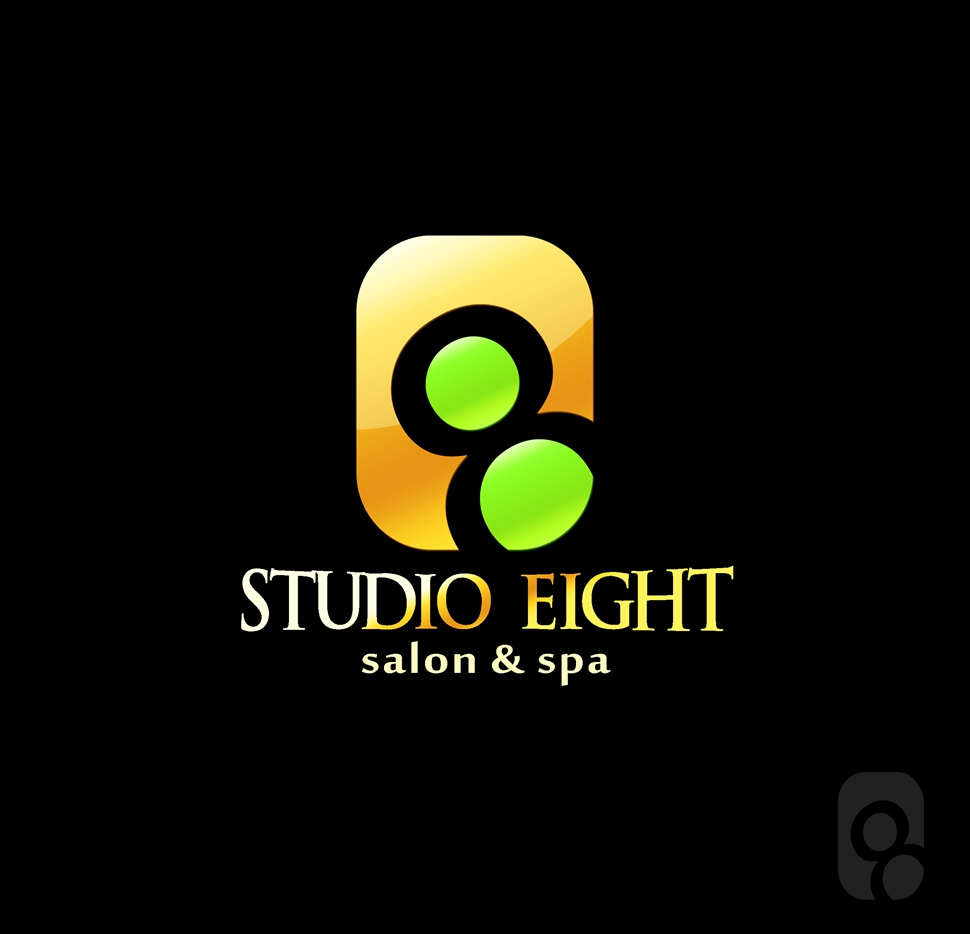 Logo Design by Respati Himawan - Entry No. 153 in the Logo Design Contest Captivating Logo Design for studio eight salon & spa.