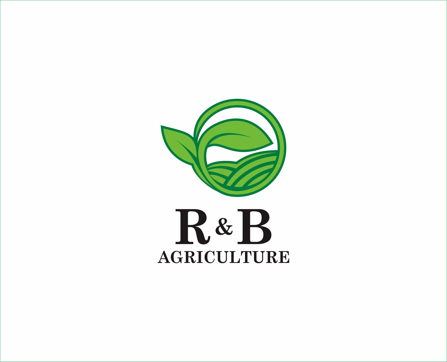 Logo Design by Armada Jamaluddin - Entry No. 130 in the Logo Design Contest Captivating Logo Design for R & B Agriculture.