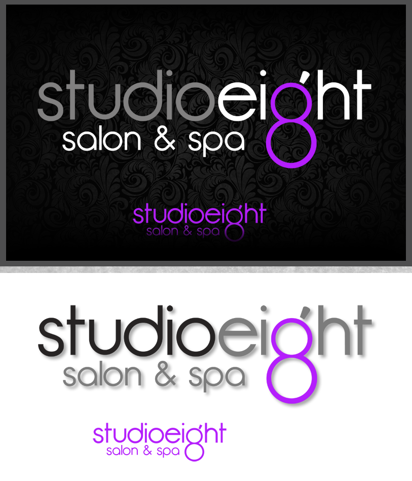 Logo Design by Robert Turla - Entry No. 159 in the Logo Design Contest Captivating Logo Design for studio eight salon & spa.