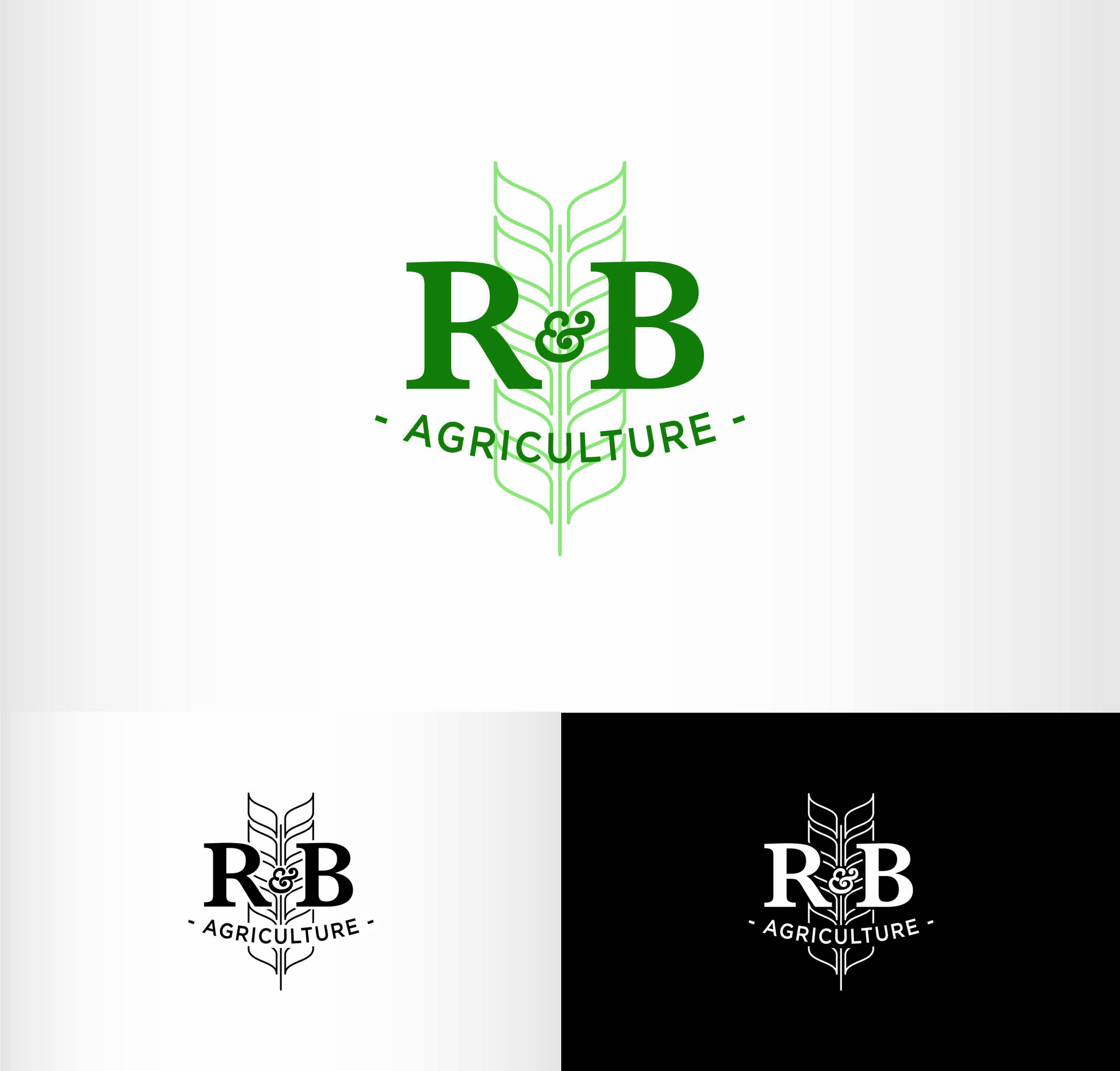 Logo Design by Andrés González - Entry No. 142 in the Logo Design Contest Captivating Logo Design for R & B Agriculture.