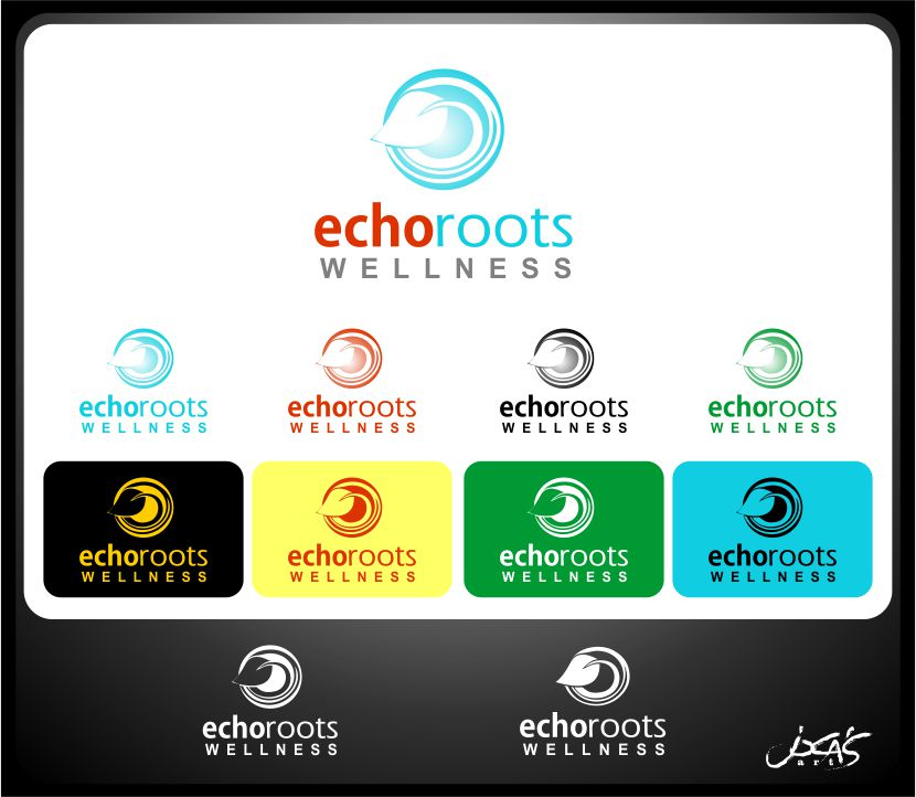 Logo Design by joca - Entry No. 87 in the Logo Design Contest Funky Logo Design for Echo Roots Wellness.