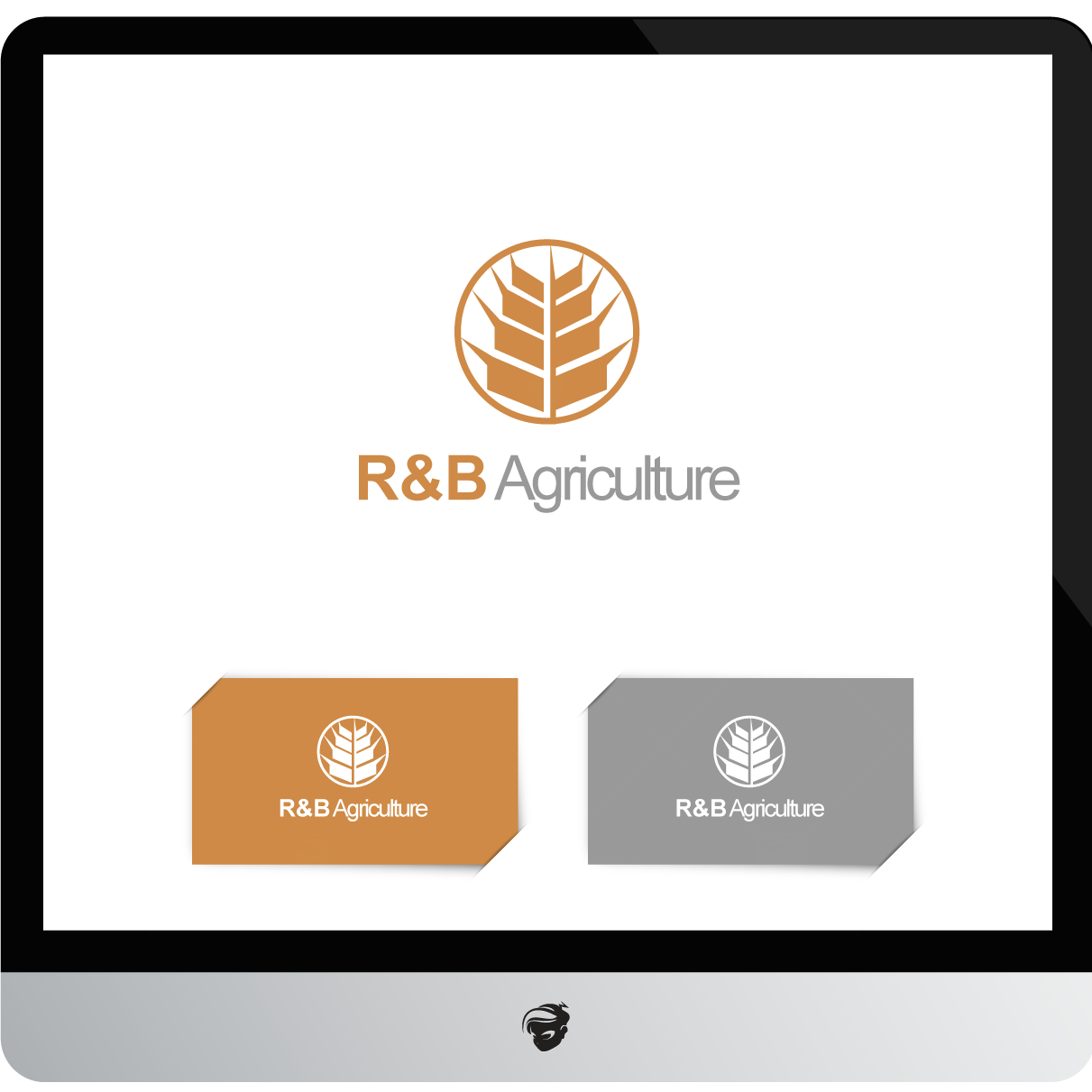 Logo Design by zesthar - Entry No. 144 in the Logo Design Contest Captivating Logo Design for R & B Agriculture.