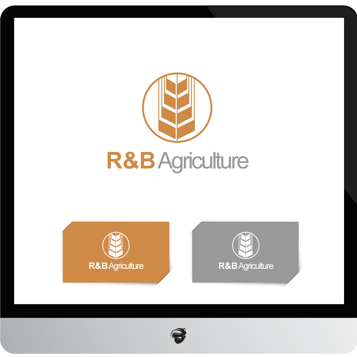 Logo Design by zesthar - Entry No. 146 in the Logo Design Contest Captivating Logo Design for R & B Agriculture.