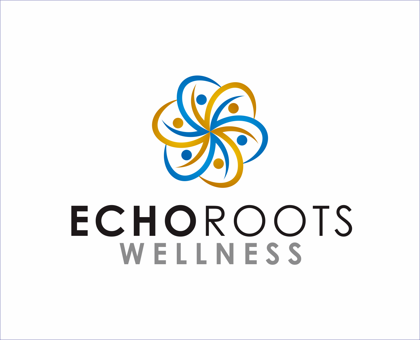 Logo Design by Armada Jamaluddin - Entry No. 89 in the Logo Design Contest Funky Logo Design for Echo Roots Wellness.