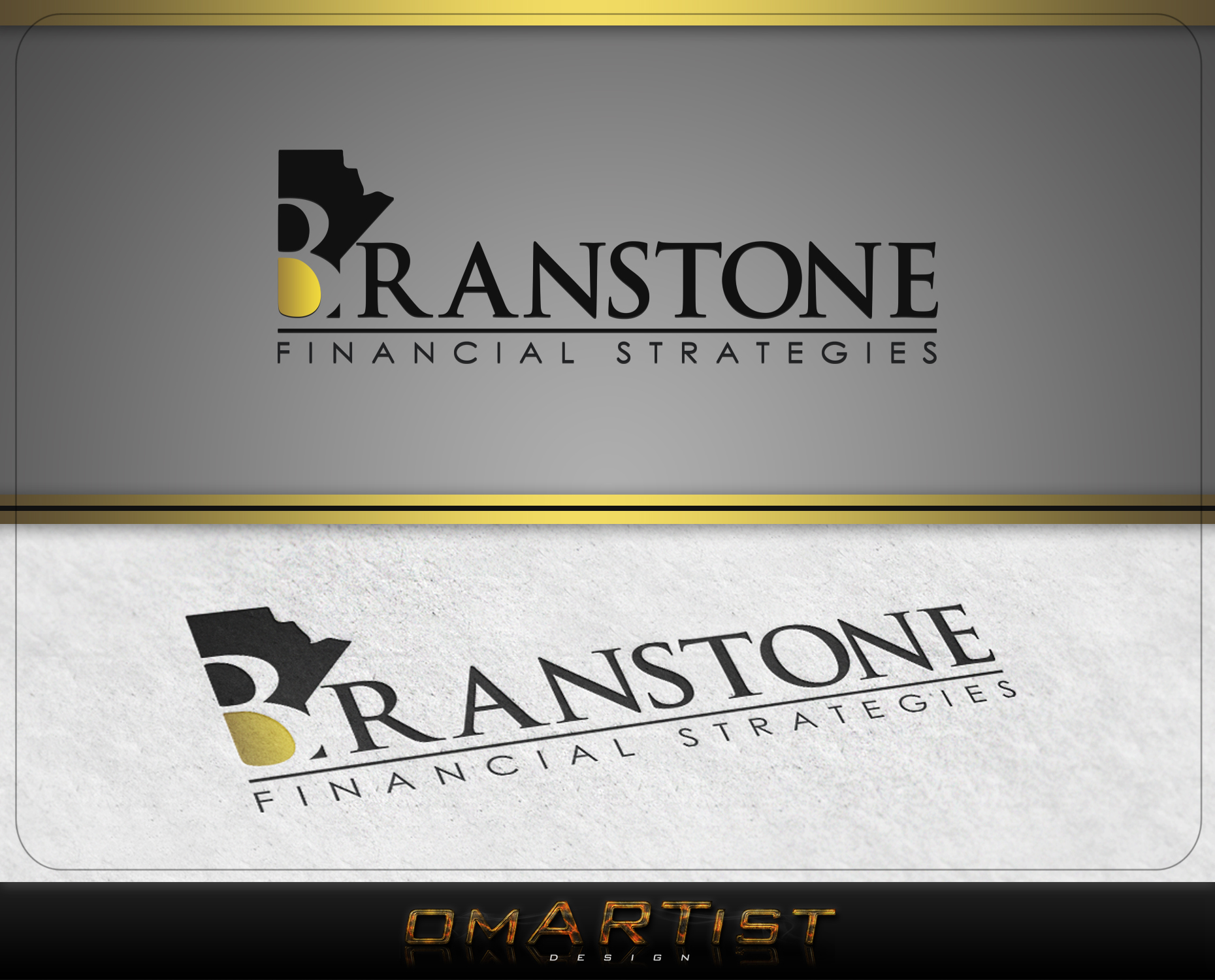 Logo Design by omARTist - Entry No. 67 in the Logo Design Contest Inspiring Logo Design for Branstone Financial Strategies.