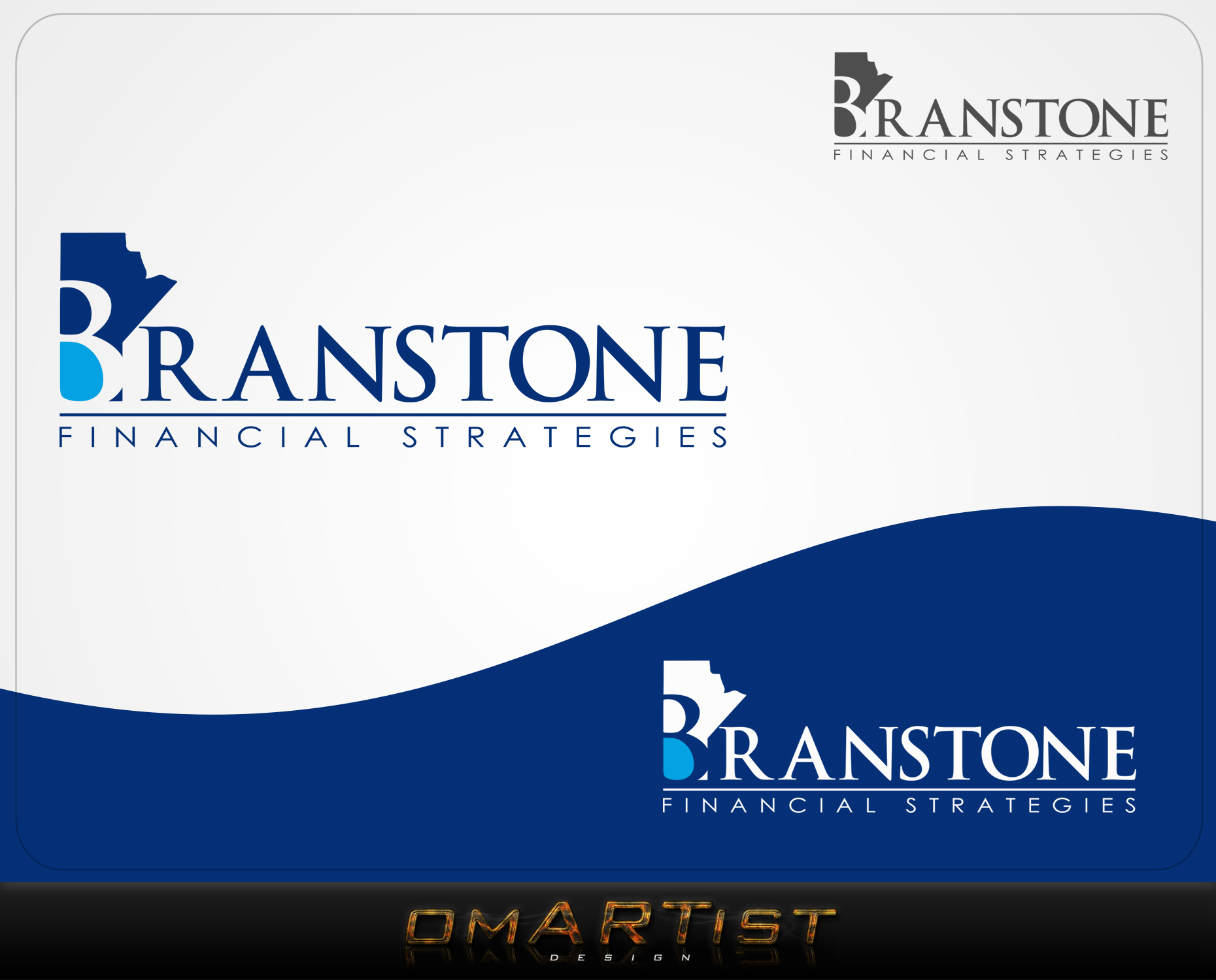 Logo Design by omARTist - Entry No. 69 in the Logo Design Contest Inspiring Logo Design for Branstone Financial Strategies.