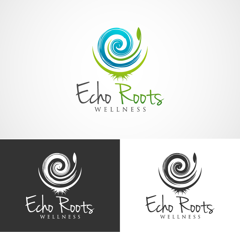 Logo Design by Vijay Krishnan - Entry No. 100 in the Logo Design Contest Funky Logo Design for Echo Roots Wellness.