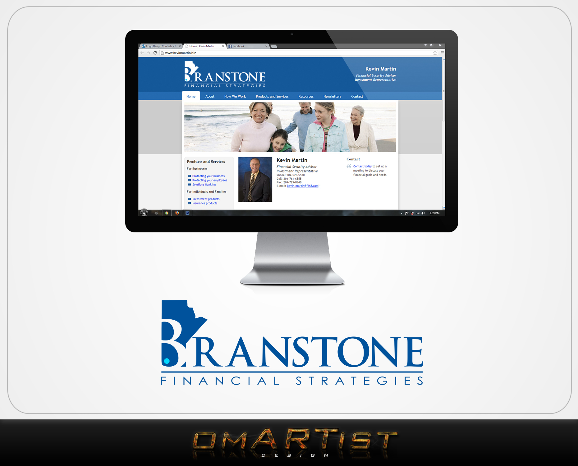 Logo Design by omARTist - Entry No. 71 in the Logo Design Contest Inspiring Logo Design for Branstone Financial Strategies.