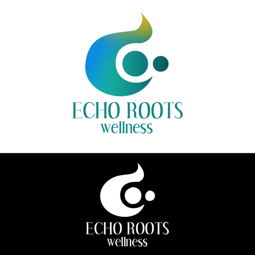 Logo Design by JaroslavProcka - Entry No. 105 in the Logo Design Contest Funky Logo Design for Echo Roots Wellness.