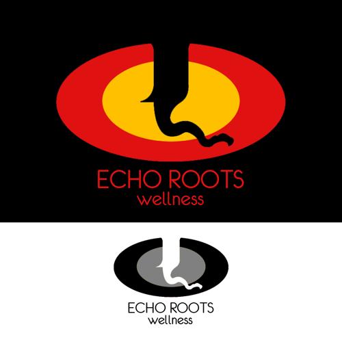 Logo Design by JaroslavProcka - Entry No. 106 in the Logo Design Contest Funky Logo Design for Echo Roots Wellness.