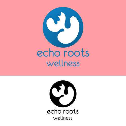 Logo Design by JaroslavProcka - Entry No. 107 in the Logo Design Contest Funky Logo Design for Echo Roots Wellness.