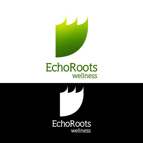 Logo Design by JaroslavProcka - Entry No. 108 in the Logo Design Contest Funky Logo Design for Echo Roots Wellness.