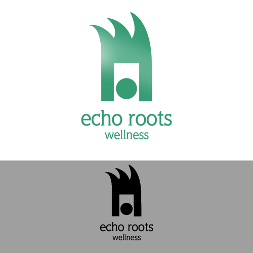Logo Design by JaroslavProcka - Entry No. 109 in the Logo Design Contest Funky Logo Design for Echo Roots Wellness.