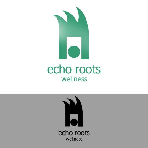 Logo Design by JaroslavProcka - Entry No. 109 in the Logo Design Contest Funky Logo Design for Echo Roots Wellness.
