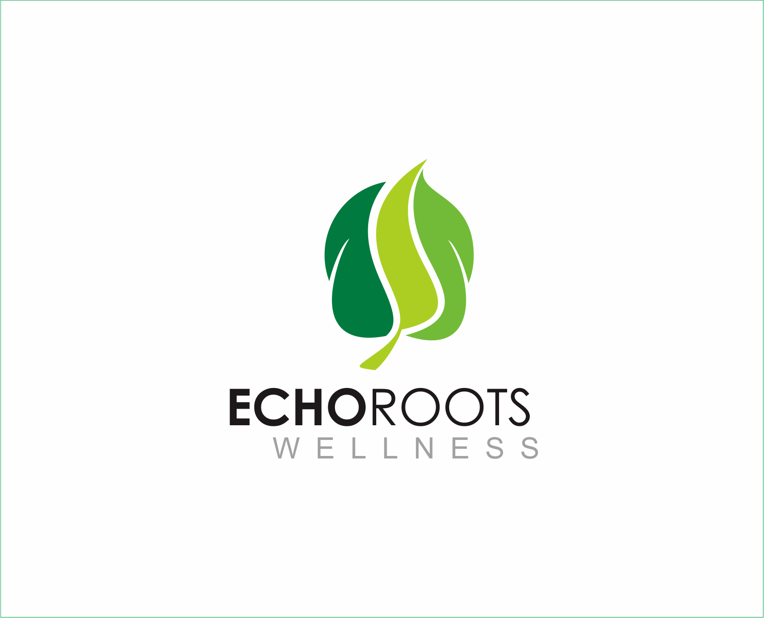 Logo Design by Armada Jamaluddin - Entry No. 111 in the Logo Design Contest Funky Logo Design for Echo Roots Wellness.