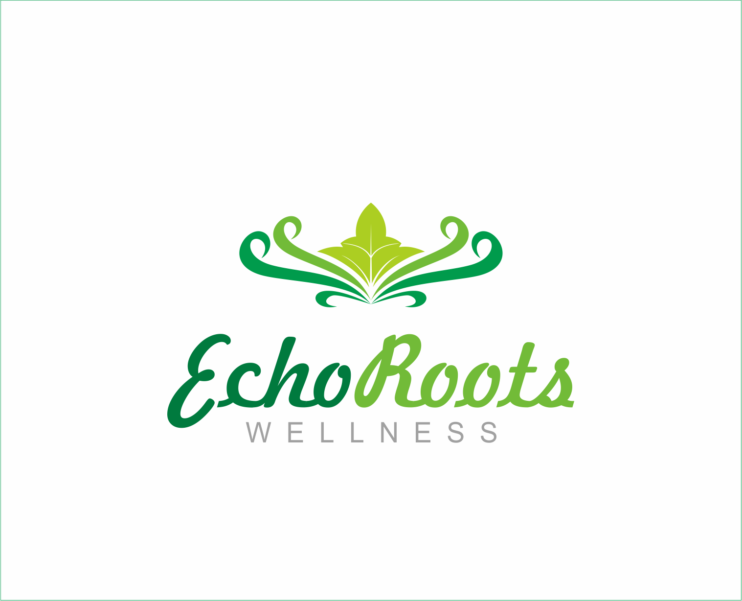 Logo Design by Armada Jamaluddin - Entry No. 113 in the Logo Design Contest Funky Logo Design for Echo Roots Wellness.