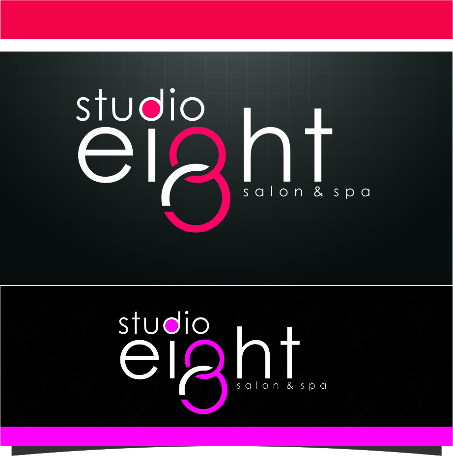 Logo Design by RoSyid Rono-Rene On Java - Entry No. 162 in the Logo Design Contest Captivating Logo Design for studio eight salon & spa.