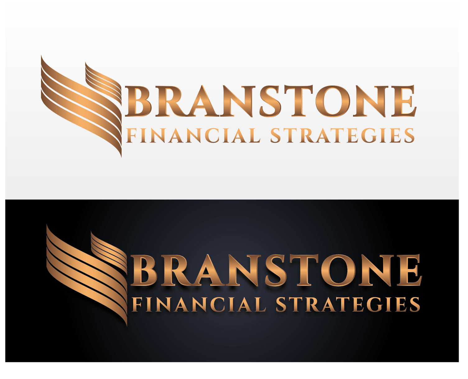 Logo Design by VENTSISLAV KOVACHEV - Entry No. 79 in the Logo Design Contest Inspiring Logo Design for Branstone Financial Strategies.