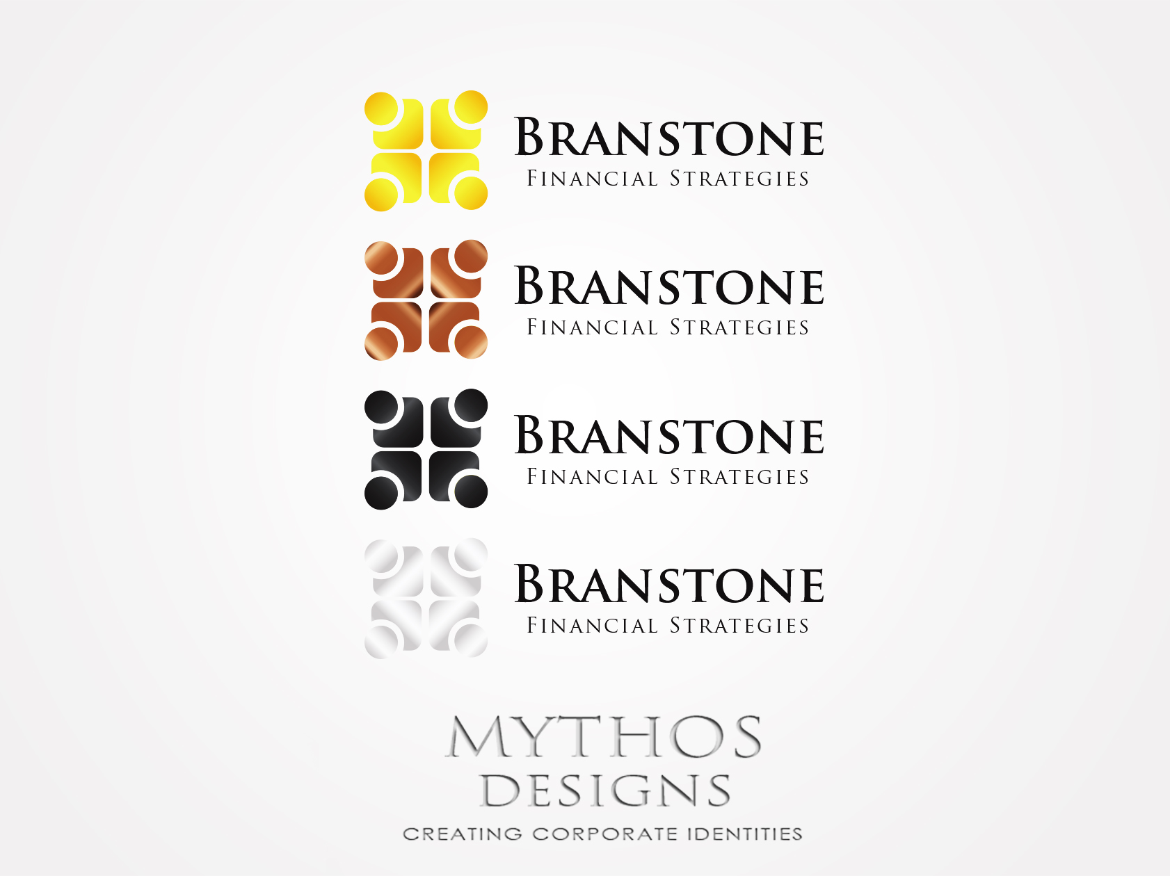Logo Design by Mythos Designs - Entry No. 84 in the Logo Design Contest Inspiring Logo Design for Branstone Financial Strategies.