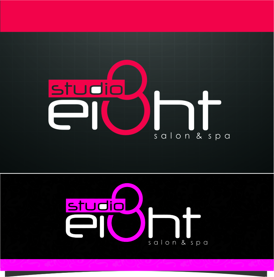 Logo Design by RoSyid Rono-Rene On Java - Entry No. 163 in the Logo Design Contest Captivating Logo Design for studio eight salon & spa.