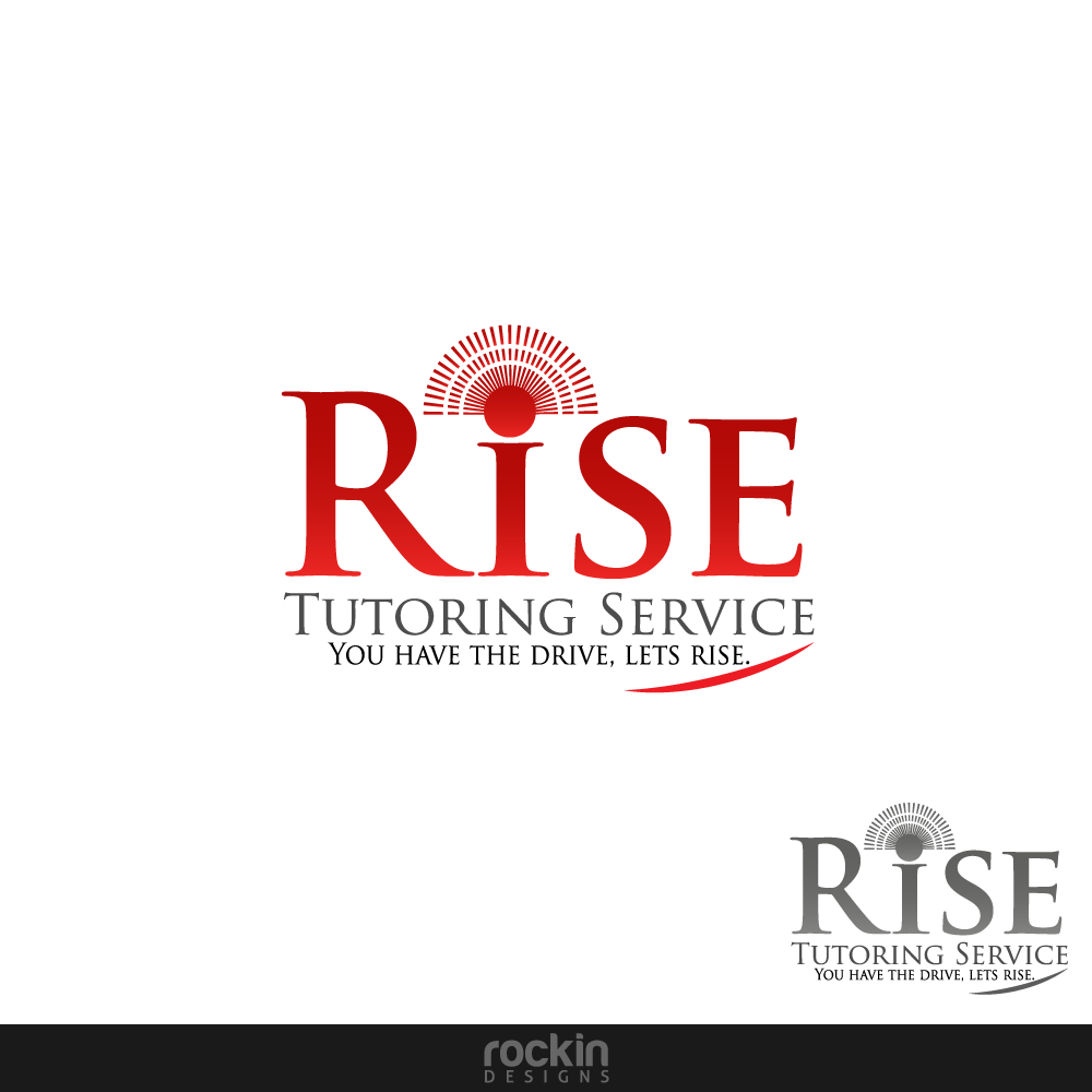 Logo Design by rockin - Entry No. 15 in the Logo Design Contest Imaginative Logo Design for Rise Tutoring Service.