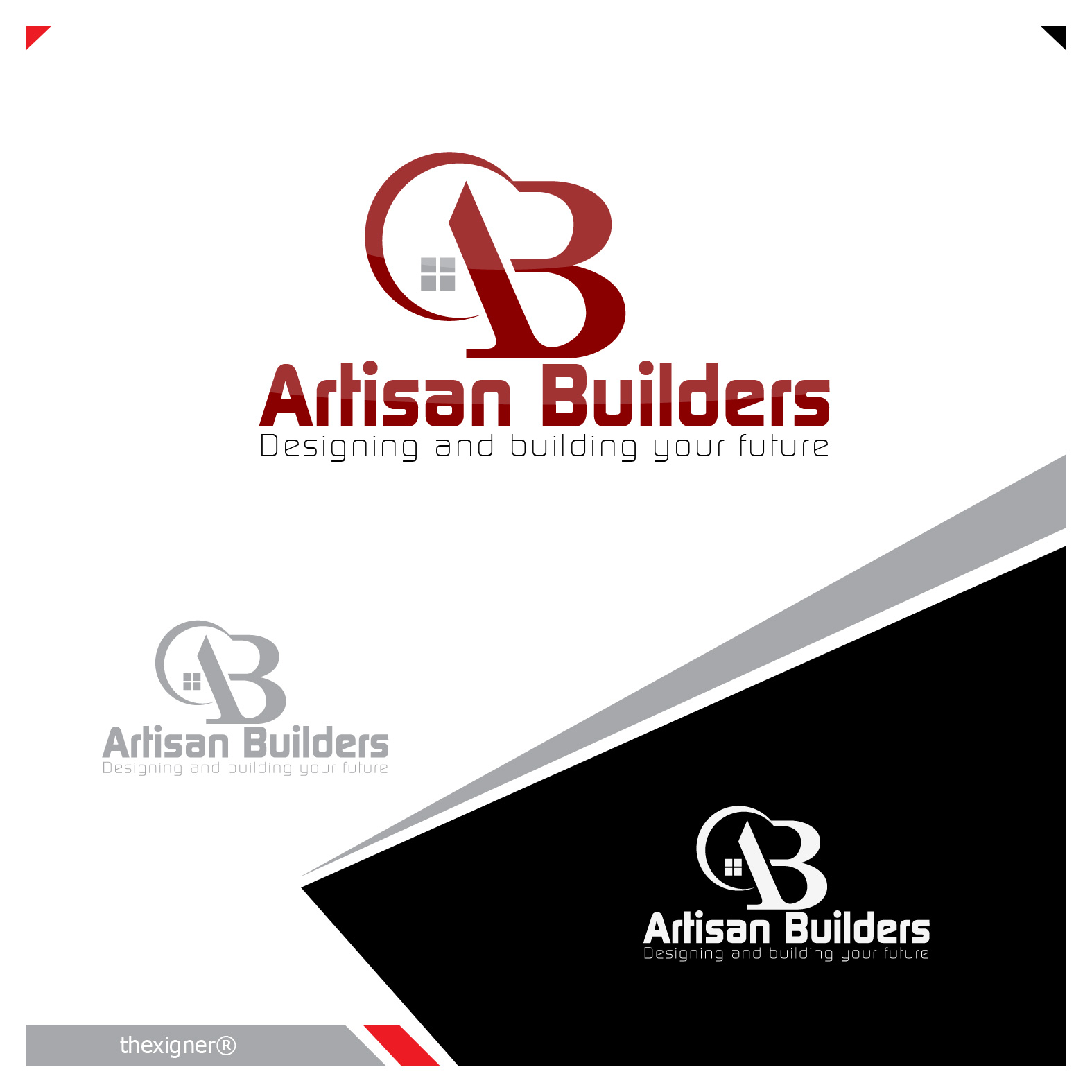 Logo Design by lagalag - Entry No. 104 in the Logo Design Contest Captivating Logo Design for Artisan Builders.