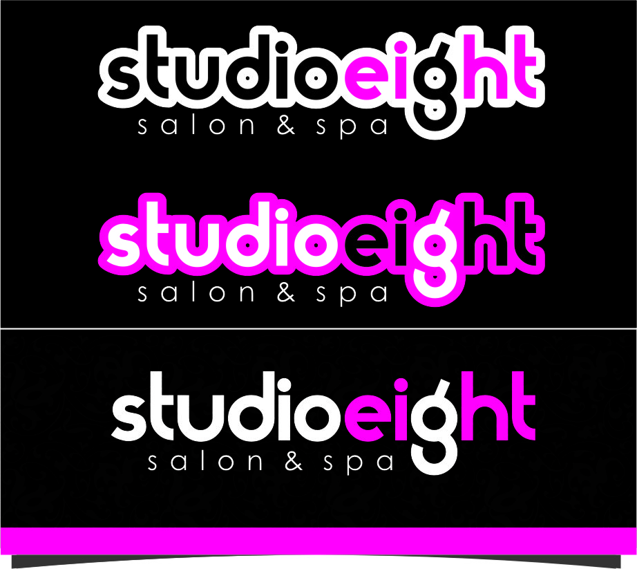 Logo Design by RoSyid Rono-Rene On Java - Entry No. 164 in the Logo Design Contest Captivating Logo Design for studio eight salon & spa.
