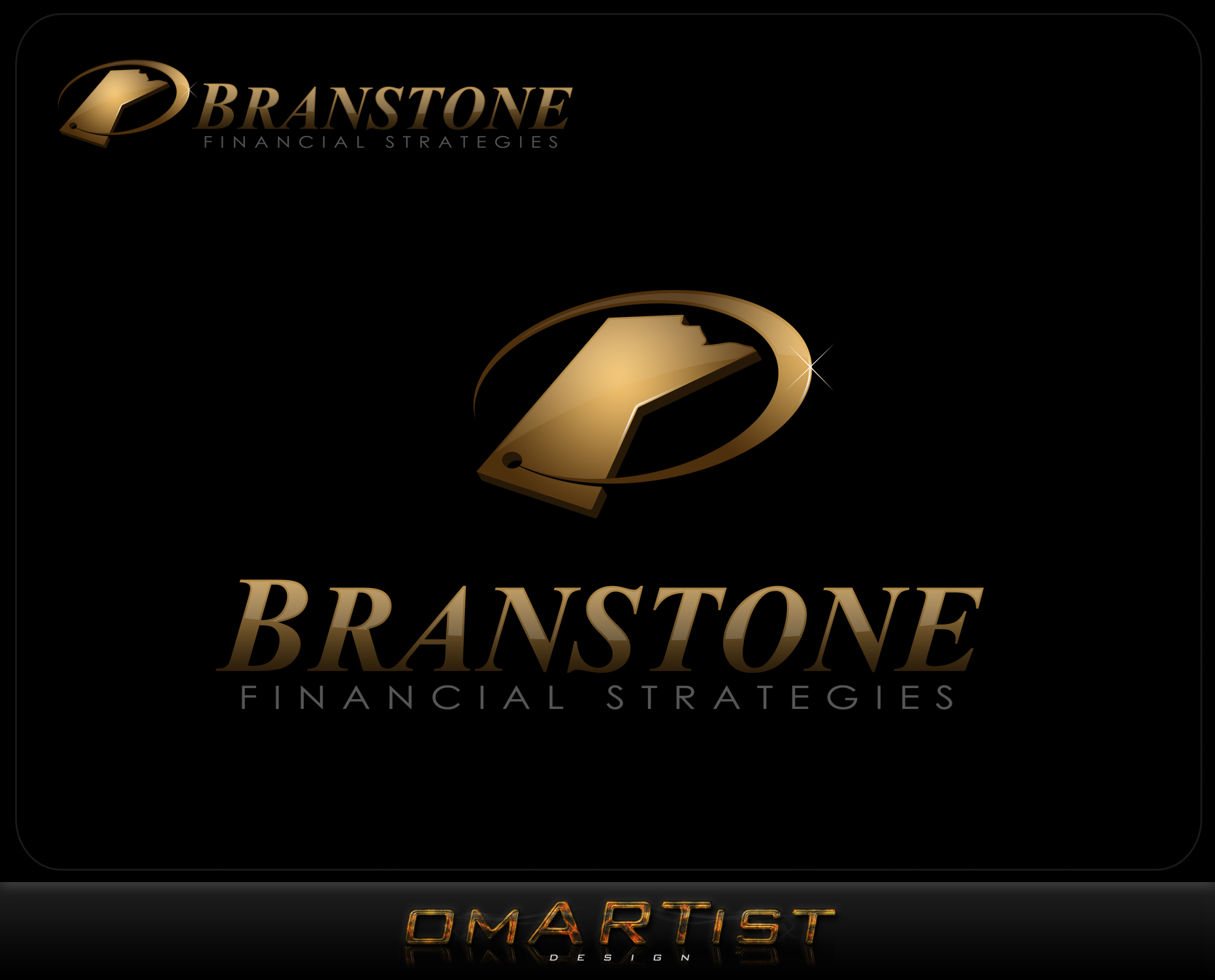 Logo Design by omARTist - Entry No. 113 in the Logo Design Contest Inspiring Logo Design for Branstone Financial Strategies.