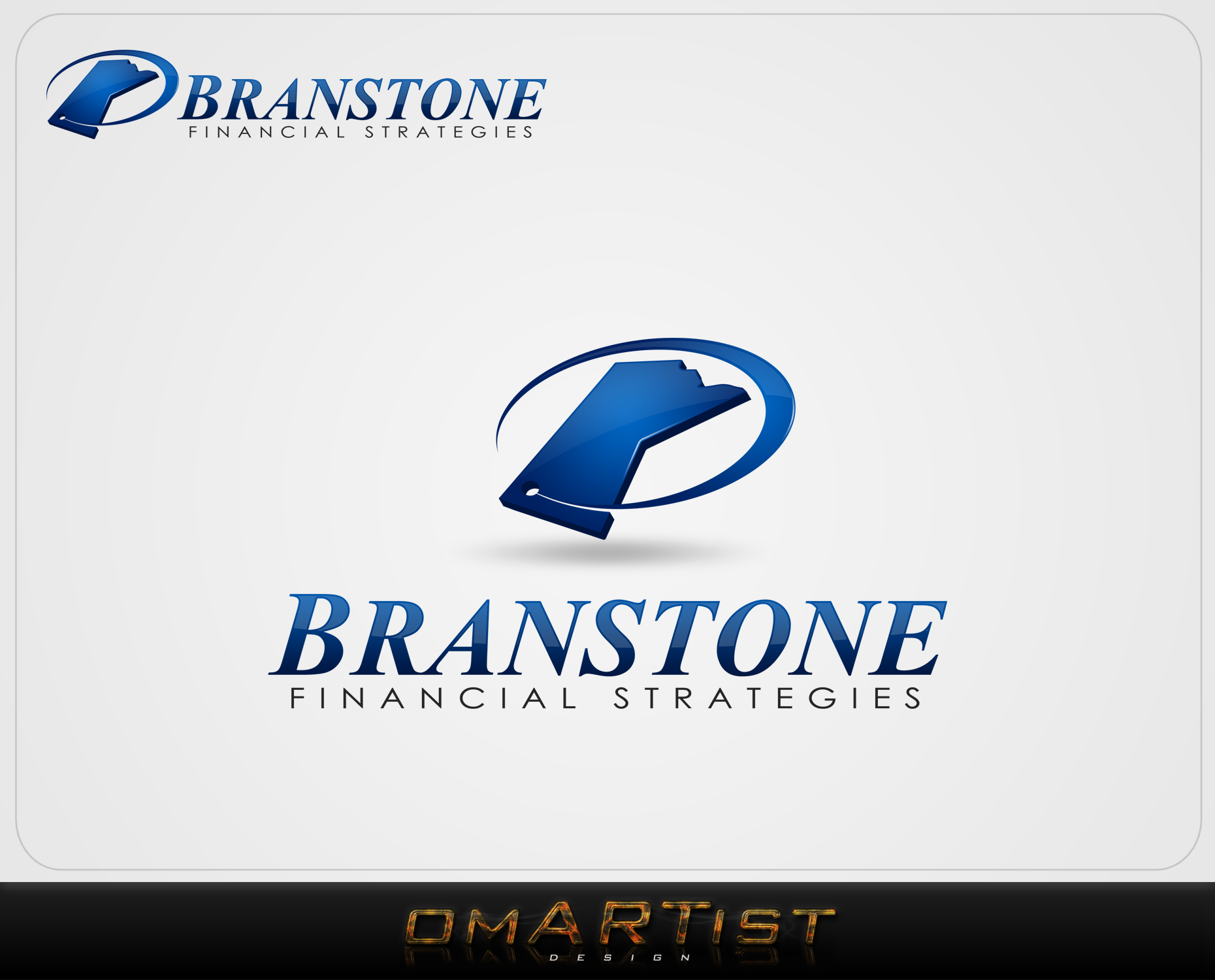 Logo Design by omARTist - Entry No. 114 in the Logo Design Contest Inspiring Logo Design for Branstone Financial Strategies.