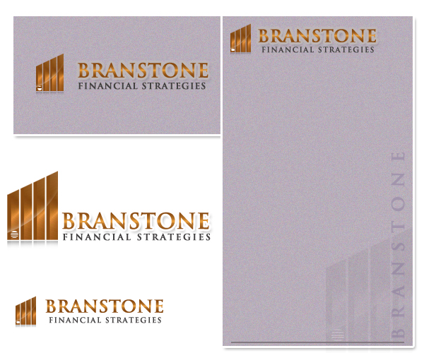 Logo Design by Crystal Desizns - Entry No. 122 in the Logo Design Contest Inspiring Logo Design for Branstone Financial Strategies.