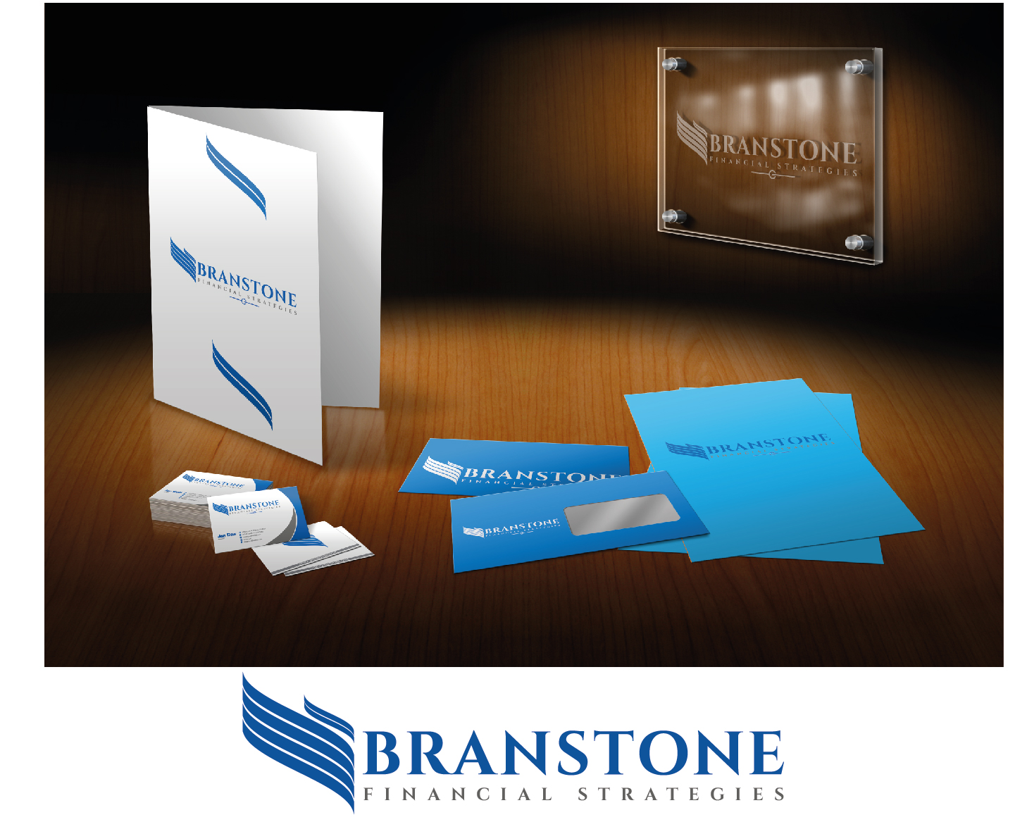 Logo Design by VENTSISLAV KOVACHEV - Entry No. 126 in the Logo Design Contest Inspiring Logo Design for Branstone Financial Strategies.